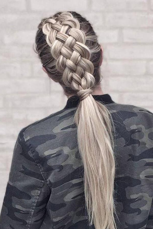125 Artistic Braided Ponytails For 2019 Intended For Newest Billowing Ponytail Braid Hairstyles (View 16 of 25)