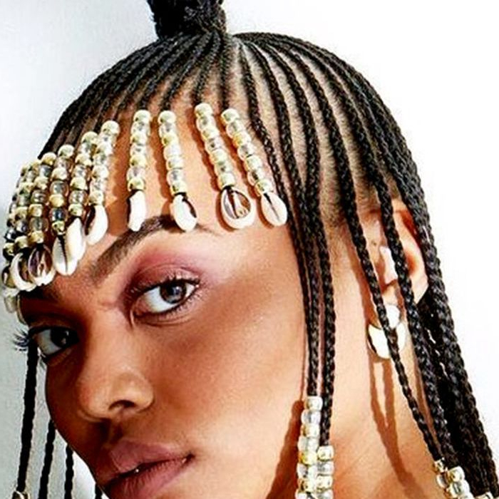 13 Beautiful Hairstyles With Beads You Have To See Throughout Most Recently Beaded Plaits Braids Hairstyles (View 17 of 25)