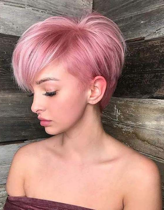 13 Leading Hairstyles And Haircuts To Follow In 2018 | Hair Intended For 2018 Smokey Pastel Colors Pixie Haircuts (View 5 of 25)