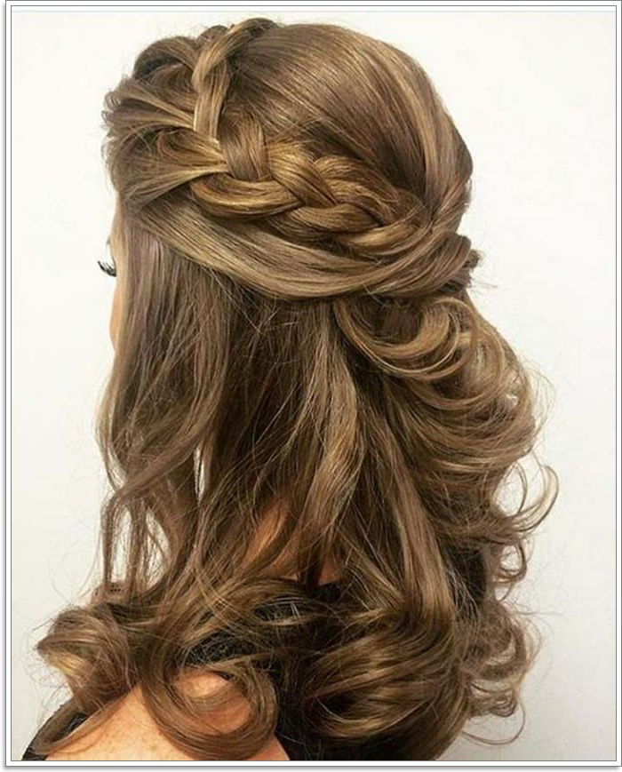 135 Whimsical Half Up Half Down Hairstyles You Can Wear For In Most Up To Date Loosely Tied Braid Hairstyles With A Ribbon (View 3 of 25)