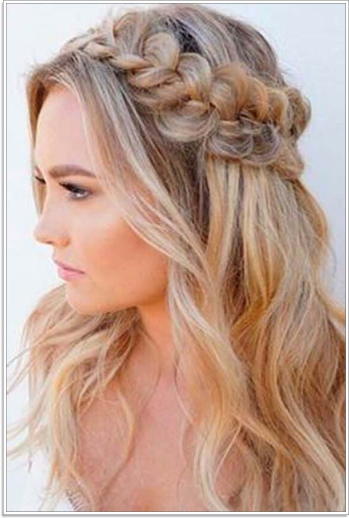 135 Whimsical Half Up Half Down Hairstyles You Can Wear For Pertaining To Newest Half Braided Hairstyles (View 14 of 25)