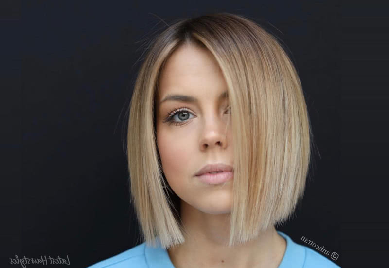 14 Best Blunt Cut Bob Haircuts For Every Face Shape Inside Sleek Blunt Bob Hairstyles (View 5 of 25)