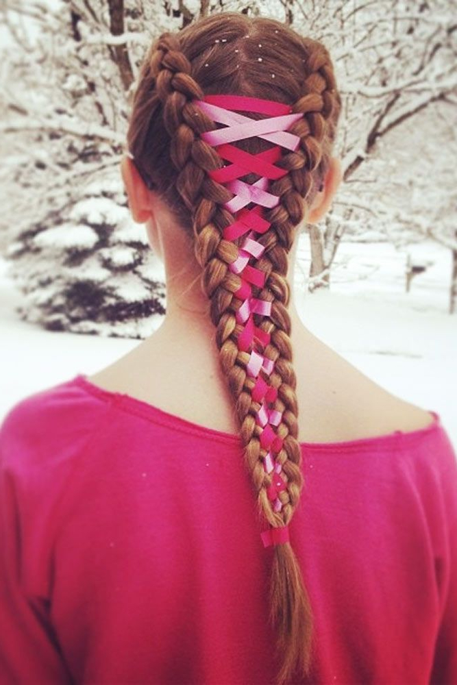 15 Amazing Braid Hairstyles With Corset Braid Hair | Kids Throughout Newest Corset Braid Hairstyles (View 5 of 25)