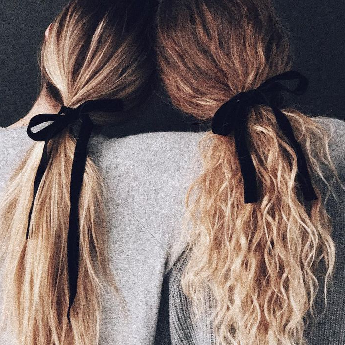 15 Easy Hairstyles For Long Hair For Most Up To Date Loosely Tied Braid Hairstyles With A Ribbon (View 9 of 25)
