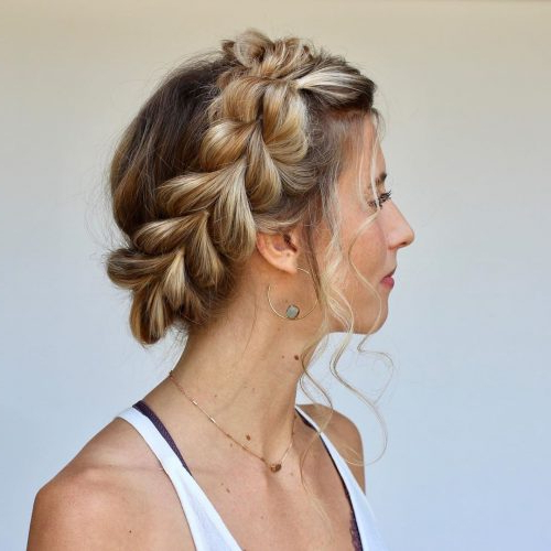 15 Prettiest Halo Braid Hairstyles To Copy Throughout Most Popular Updo Halo Braid Hairstyles (View 5 of 25)