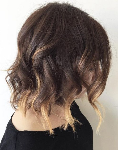 15 Trendy And Chic Balayage Ideas On Short Hair – Styleoholic Regarding Razor Bob Haircuts With Highlights (View 20 of 25)