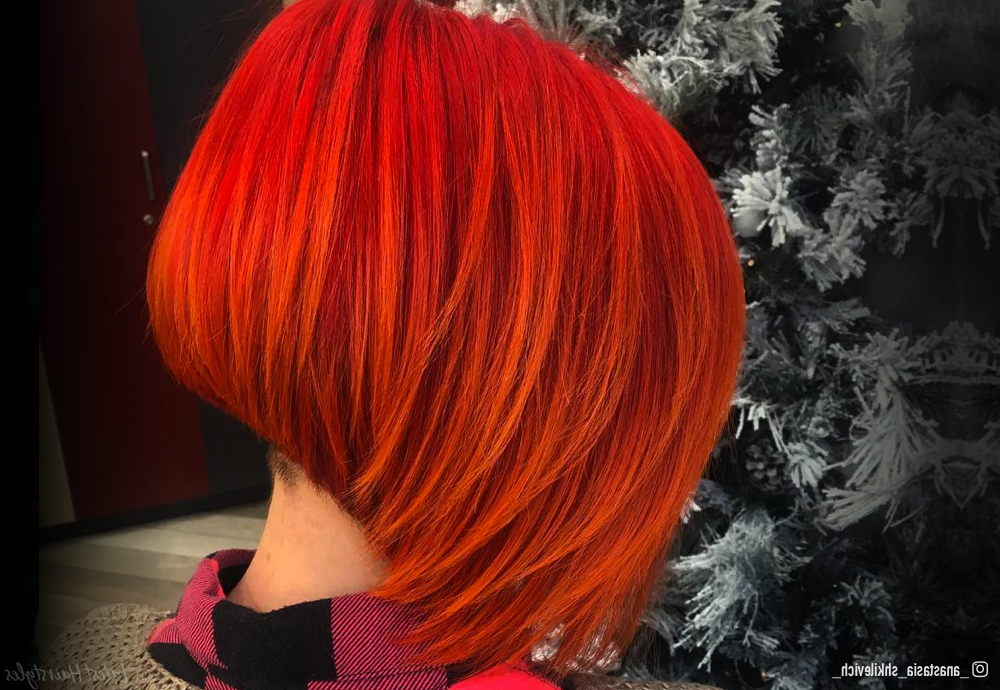 16 Stunning Bright Red Hair Colors To Get You Inspired Pertaining To Bright Red Bob Hairstyles (View 25 of 25)