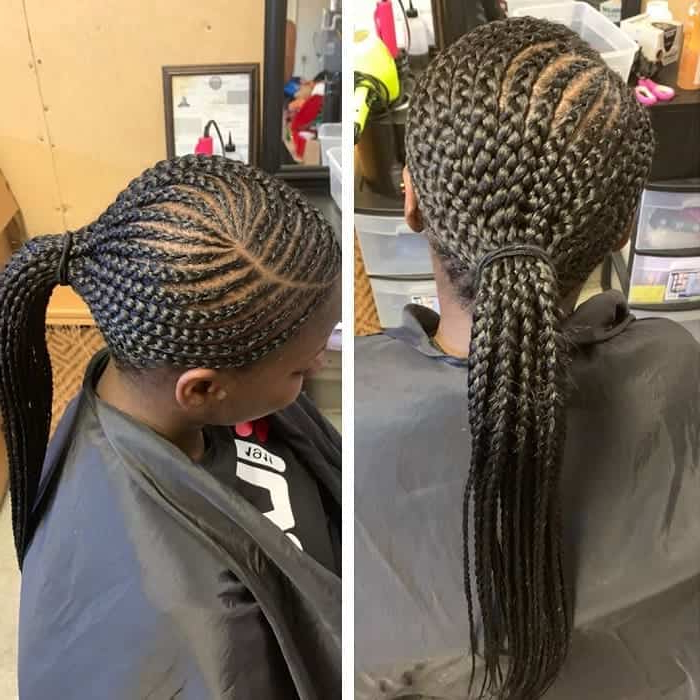 17 Boho Chic Braided Ponytail Styles With Weave – Hairstylecamp With Regard To Current Ponytail Braid Hairstyles (View 12 of 25)