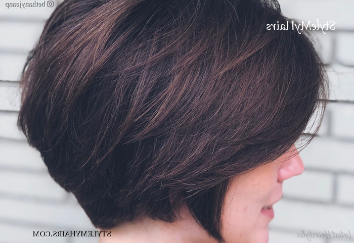 17 Short Layered Bob Haircuts Trending In 2019 – Style My Hairs Throughout A Very Short Layered Bob Hairstyles (View 7 of 25)