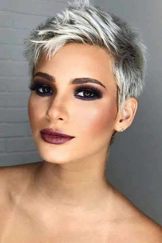 170 Pixie Cut Ideas To Suit All Tastes In 2020 Inside Most Recent Edgy Look Pixie Haircuts With Sass (View 15 of 25)
