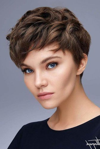 170 Pixie Cut Ideas To Suit All Tastes In 2020 Intended For 2018 Plum Brown Pixie Haircuts For Naturally Curly Hair (View 9 of 25)