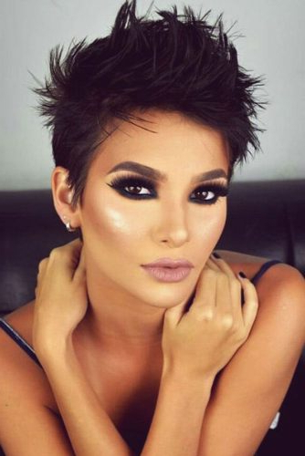 170 Pixie Cut Ideas To Suit All Tastes In 2020 Intended For Best And Newest Edgy Look Pixie Haircuts With Sass (View 22 of 25)