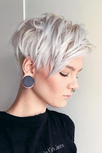 170 Pixie Cut Ideas To Suit All Tastes In 2020 With Most Current Silver Pixie Haircuts With Side Swept Bangs (View 7 of 25)
