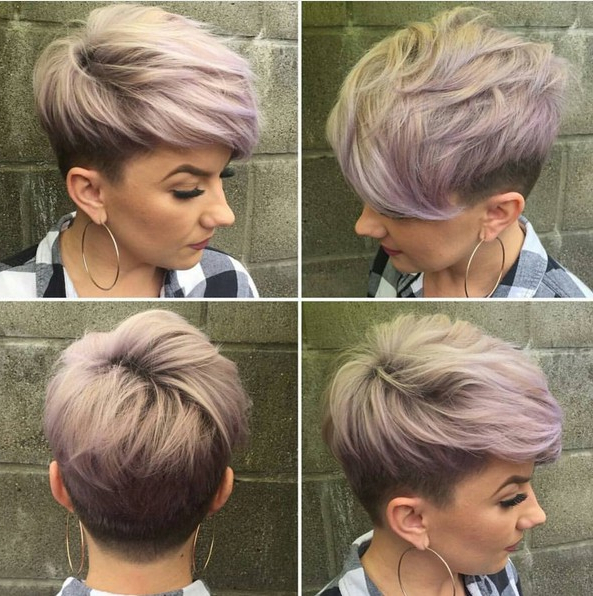 18 Short Hairstyles Perfect For Fine Hair – Popular Haircuts Inside Most Recent Edgy Textured Pixie Haircuts With Rose Gold Color (View 21 of 25)