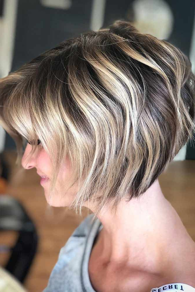 195 Fantastic Bob Haircut Ideas   Black Hair With Blonde Within Shiny Strands Blunt Bob Hairstyles (View 13 of 25)