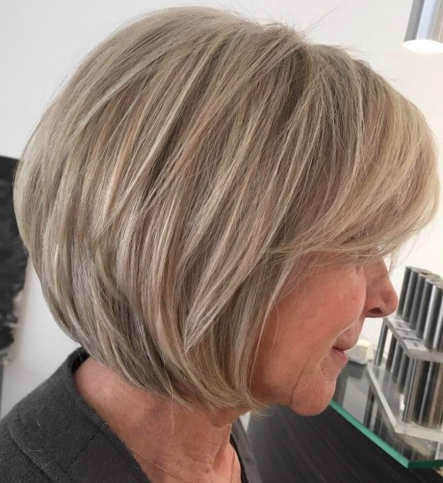 20 Beautiful Bob Hairstyles For Women Over 60   Hairdo Hairstyle Throughout Cute Round Bob Hairstyles For Women Over  (View 2 of 25)