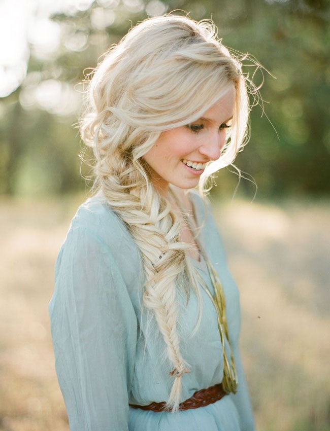 20 Beautiful Fishtail Braided Hairstyles | Styles Weekly In Recent Messy Side Fishtail Braid Hairstyles (View 17 of 25)