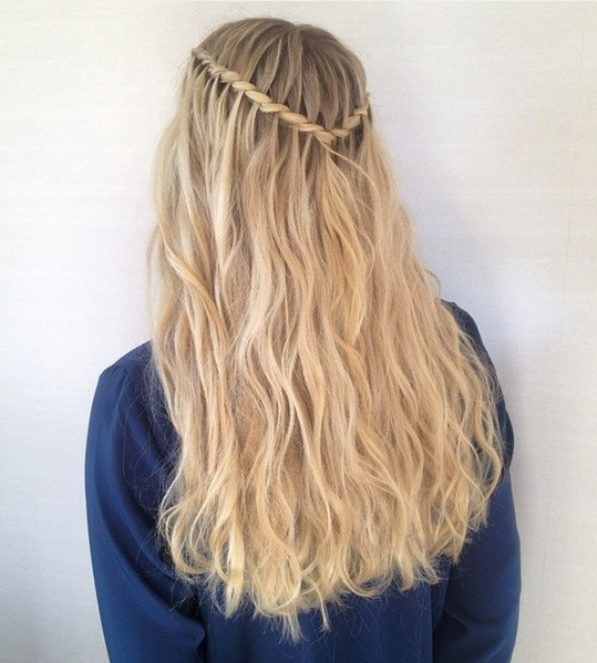 20 Best Waterfall Braid Hairstyle Ideas – Hairstyles Weekly In Recent High Waterfall Braid Hairstyles (View 21 of 25)