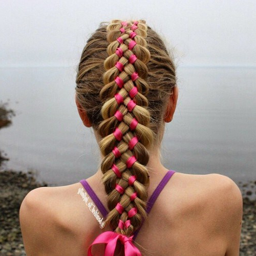 20 Cute Braided Hairstyles For Little Girls – Hairstyles Weekly In Most Recent Loosely Tied Braid Hairstyles With A Ribbon (View 21 of 25)