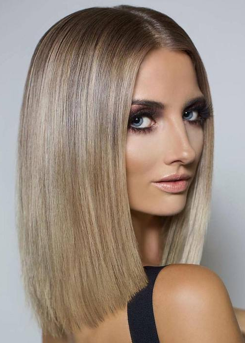 20 Hot Blunt Bob Hairstyles To Sport This Summer Regarding Shiny Strands Blunt Bob Hairstyles (View 22 of 25)