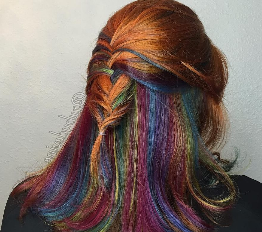 20 Pretty Peekaboo Highlights You Need To See Now With Regard To Most Current Peek A Boo Braid Hairstyles (View 18 of 25)
