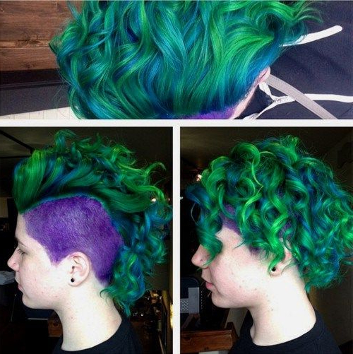 20 Rainbow Hair Pictures To Join The Unicorn Tribe | Latest Pertaining To Most Popular Aqua Green Undercut Hairstyles (View 9 of 25)