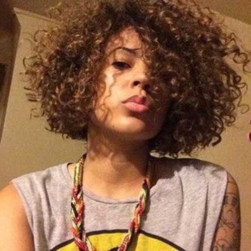 20 Short Curly Hairstyles For Black Women Pertaining To Naturally Curly Bob Hairstyles (View 23 of 25)