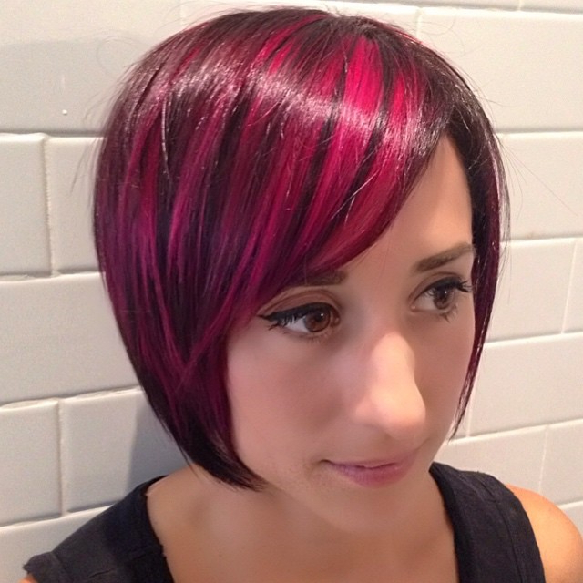 20 Spectacular Angled Bob Hairstyles – Pretty Designs With Bright Red Bob Hairstyles (View 21 of 25)