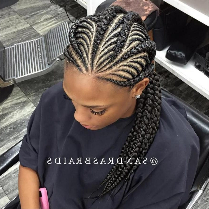 20 Totally Gorgeous Ghana Braids For An Intricate Hairdo Throughout Newest Thick Plaits And Narrow Cornrows Hairstyles (View 2 of 25)