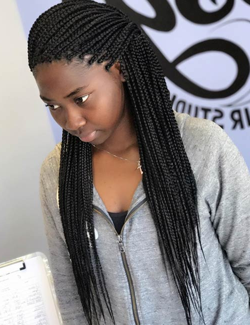 20 Uber Cool Ways To Style Your Micro Braids With Recent Ultra Thin Micro Braids Hairstyles (View 11 of 25)