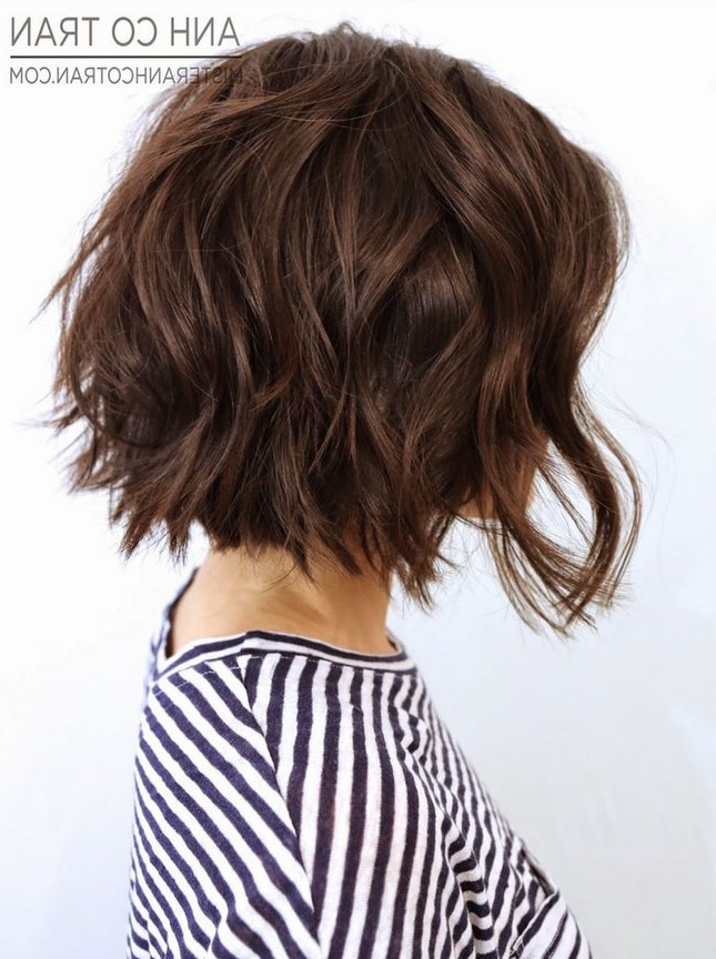 20+ Wavy Bob Hairstyles For Short & Medium Length Hair With Texturized Tousled Bob Hairstyles (View 2 of 25)