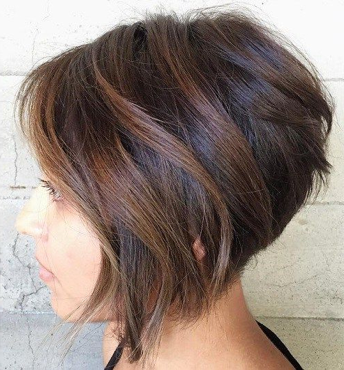 20 Wonderful Wedge Haircuts | Short Hair With Layers Within Wedge Bob Hairstyles (View 2 of 25)