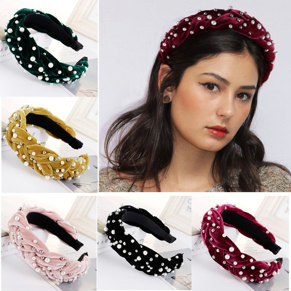 2019 2020 Hot Pearl Braid Headbands For Women Hairband Female Wide Head Hoop Hair Accessories From Enshao8, $ (View 22 of 25)