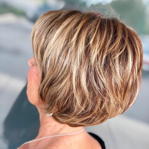 21 Chic Short Hairstyles And Haircuts For Women Over 60 Intended For Cute Round Bob Hairstyles For Women Over  (View 15 of 25)