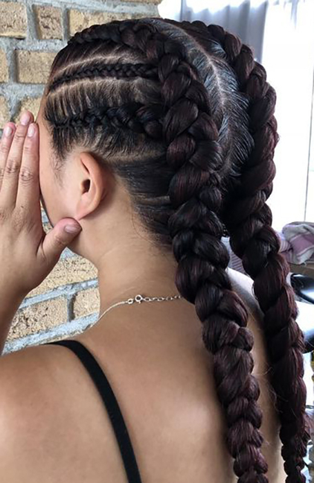21 Cool Cornrow Braid Hairstyles You Need To Try – The Trend Intended For Most Recent Asymmetrical French Braid Hairstyles (View 17 of 25)