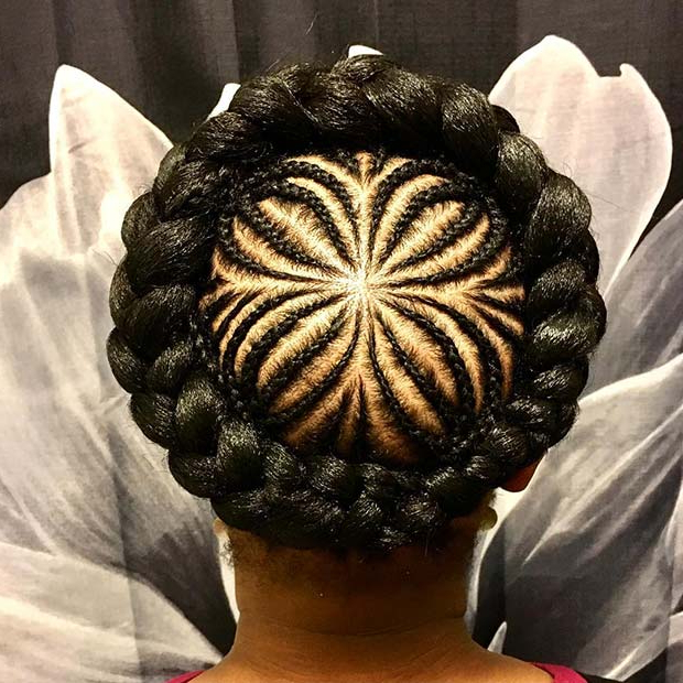 21 Pretty Halo Braid Hairstyles To Try In 2019 | Stayglam For Newest Braided Halo Hairstyles (View 19 of 25)