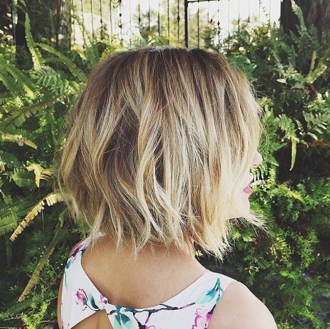 21 Textured Choppy Bob Hairstyles: Short, Shoulder Length Pertaining To Ombre Piecey Bob Hairstyles (View 11 of 25)