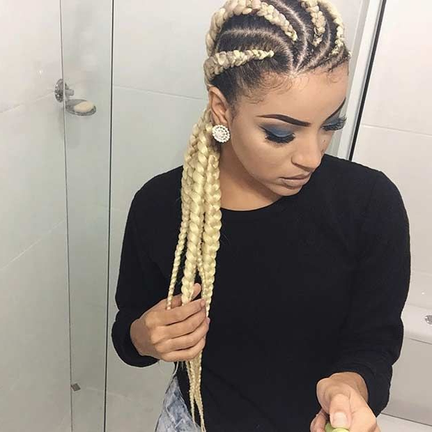 21 Trendy Braided Hairstyles To Try This Summer | Braided Regarding 2020 Accessorized Straight Backs Braids (View 4 of 25)