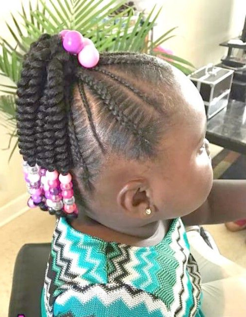 22 Adorable Braids With Beads Hairstyles For Black Kids In Newest Beaded Plaits Braids Hairstyles (View 3 of 25)