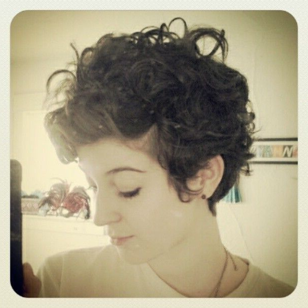 22 Glamorous Curly Pixie Hairstyles For Women – Pretty Designs Throughout Latest Edgy & Chic Short Curls Pixie Haircuts (View 19 of 25)