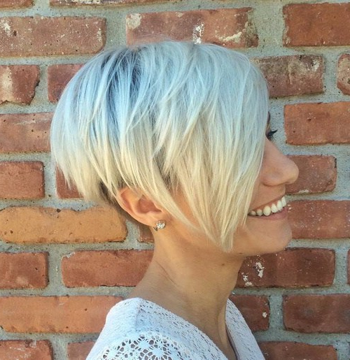 22 Pretty Short Haircuts 2020: Easy Everyday Short Hair Styles For Most Recently Edgy Textured Pixie Haircuts With Rose Gold Color (View 14 of 25)