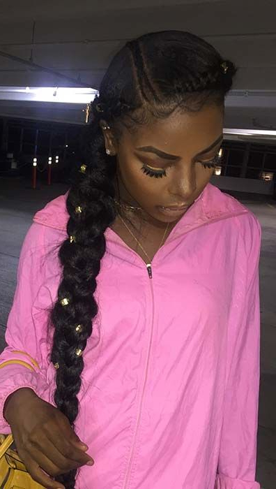 23 Beautiful Ways To Rock A Butterfly Braid | Two Braid With Regard To Most Up To Date Thick Plaits And Narrow Cornrows Hairstyles (View 8 of 25)