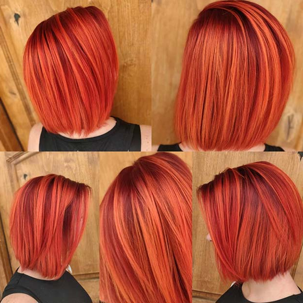 23 Best Short Red Hair Ideas We Love For 2019 | Stayglam Regarding Bright Red Bob Hairstyles (View 20 of 25)