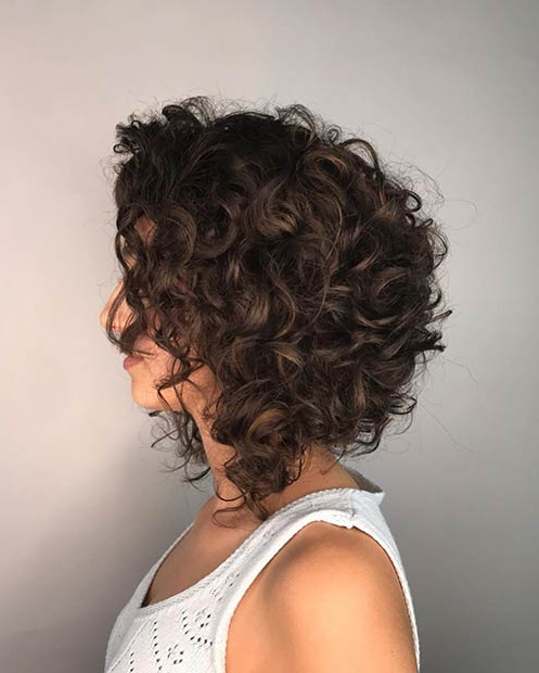 23 Curly Bob Hairstyles That Are Trending Right Now | Page 2 Pertaining To Curly Bob Hairstyles (View 10 of 25)