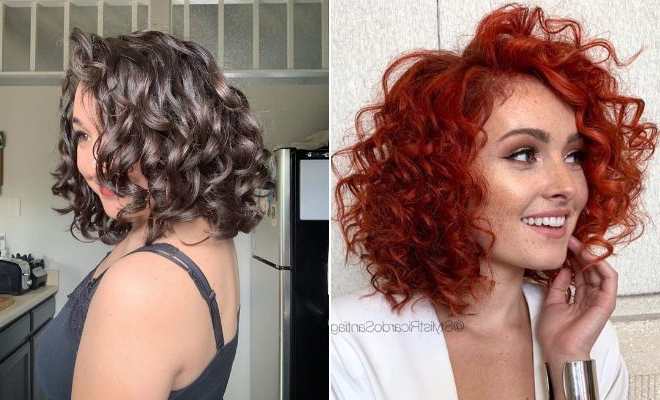 23 Curly Bob Hairstyles That Are Trending Right Now | Stayglam Within Curly Bob Hairstyles (View 6 of 25)