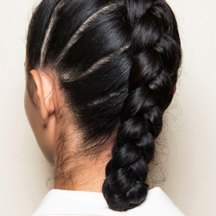 24 Braids Pertaining To Best And Newest Loosely Tied Braid Hairstyles With A Ribbon (View 18 of 25)
