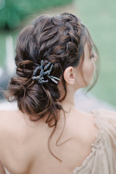 25 Beautiful Braided Hairstyles For The Big Day   Bridalguide Pertaining To Most Up To Date Halo Braid Hairstyles With Long Tendrils (View 17 of 26)