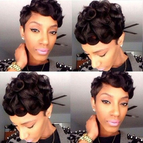 25 Cool African American Pixie Haircuts For Short Hair With Newest Plum Brown Pixie Haircuts For Naturally Curly Hair (View 23 of 25)