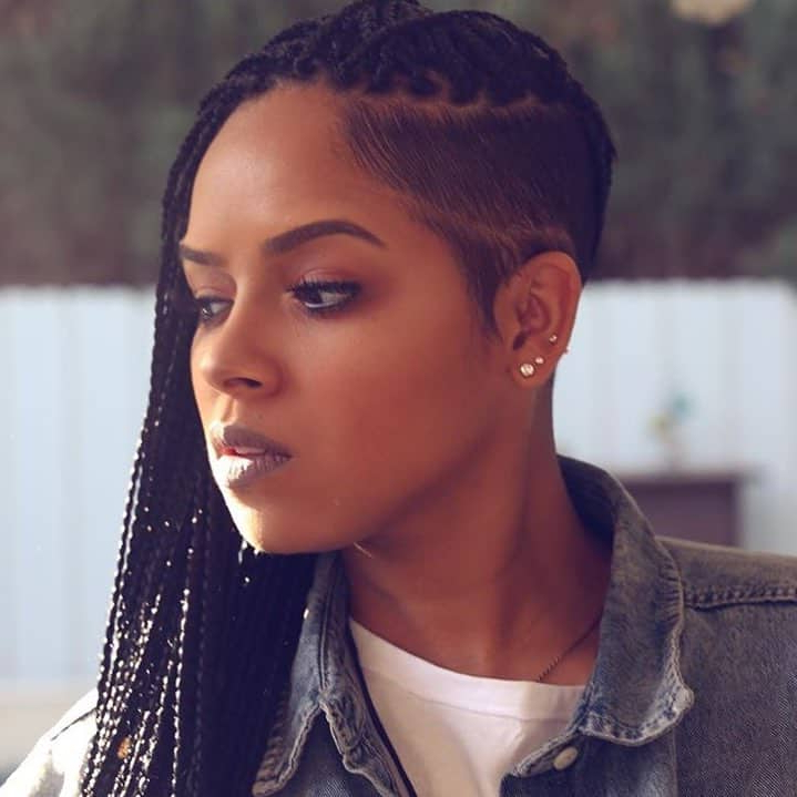 25 Hot And Sexy Shaved Sides Hairstyles You Should Try Asap Within Latest Side Shaved Cornrows Braids Hairstyles (View 10 of 25)