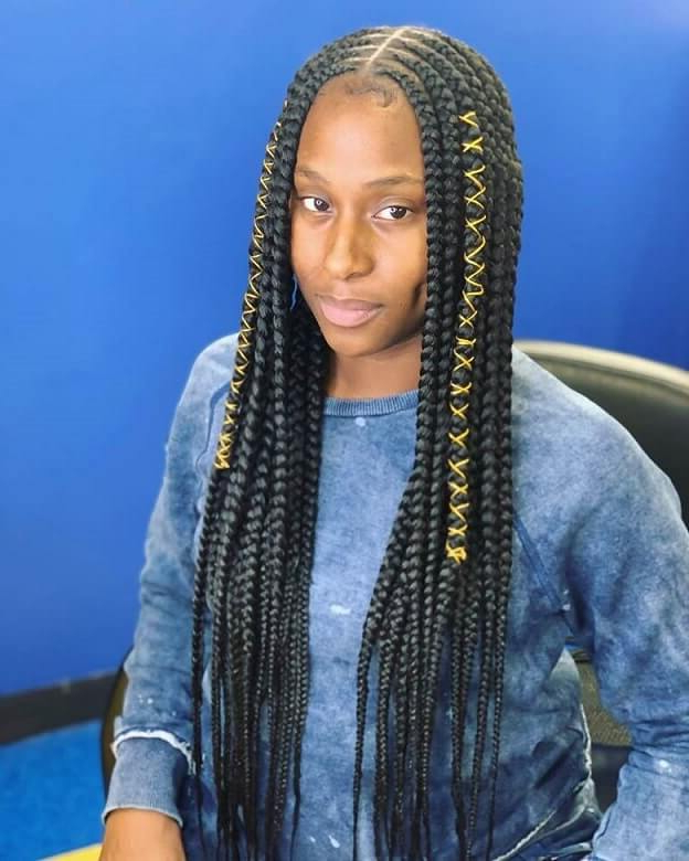 25 Lemonade Braids Hairstyles For All Ages Women   Hairdo For Current Center Part Braid Hairstyles (View 20 of 25)